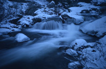 Streaming winter river